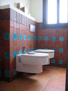 Handmade tile - Bathroom.  Dama.  www.gvega.com.