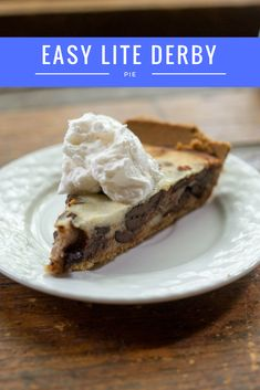 Enjoy this yummy, healthy and easy lite derby pie for a fantastic southern dessert via @divasrun4bling