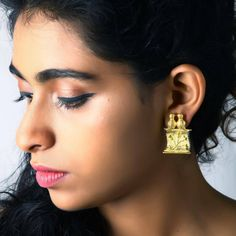 These Gold Parchment Earrings Are Made Of Brass. A Sophisticated Design By Designer Artsie Ville For Those Who Want To Be In Class. Let Us Show You A Designer Jewellery Collection Online That You Won't Be Disappointed With.