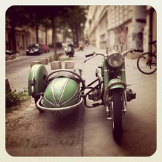 I have always wanted a side car.  And a french bulldog to ride inside it, too.