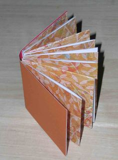 Mini-book from one 12 x 12 sheet cardstock & one piece of 6 1/2 x 3 cardstock #journal #scrapbook