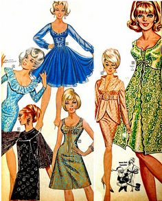 Fredericks of Hollywood Xmas 1967 1960s Fashion, Look Fashion, Fashion Beauty, Vintage Fashion, Robes Vintage, Vintage Lingerie, Vintage Outfits, Buy Lingerie, Silhouette