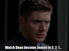 200th SPN episode That look into the camera was not scripted! lol Love Jensen