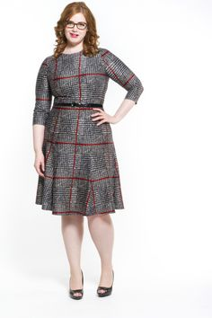 d325e398631ae Corner Office A-Line Dress in Red Plus size