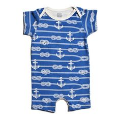 Summer Romper - Ropes & Anchors Blue