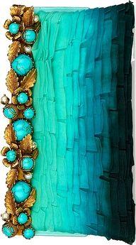* Turquoise Valentino Clutch