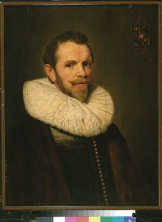 Michiel Jansz van Mierevelt, Portret van Mr. Dr. Johan Basius, 1635-1640. Gehuwd met Geertruyt van der Dussen. Oom van Geertruyt van der Graeff.