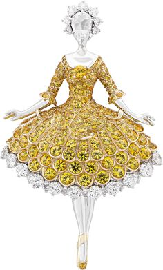 Joining the Van Cleef & Arpels troupe is this en pointe beauty resplendent in yellow sapphires. Photos courtesy Van Cleef & Arpels.