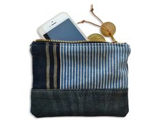 Image of COIN & CARD POUCH: DENIM