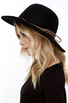 1bff3e9fe546a8 Rhythm Suffolk Black Hat ($38) ❤ liked on Polyvore featuring ...