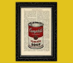 Campbell's Tomato Soup Art Print   Andy Warhol by ThePurpleHamster