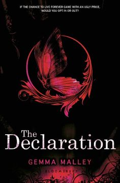 Herunterladen oder Online Lesen The Declaration Kostenlos Buch PDF/ePub - Gemma Malley, Sixteen-year-old Anna should not have been born. It is the year 2140 and people can live for ever. Best Dystopian Novels, Dystopian Future, Gemini, Ya Novels, Thing 1, Author Quotes, Book Nooks, Hunger Games, My Books