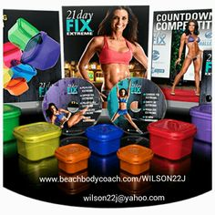 If you thought 21 day fix was awesome.  Wait till you try 21 day fix extreme.  This comes with everything in the picture plus two meal plans this time.  30 minutes of workouts a step up from the original 21 day.  This one is sure to push you a little harder this time.  You can't beat the portion control containers and the shakeology all in one awesome package.  DON'T MISS OUT this will go on sale February 2nd and you don't want to hesitate on this to order.  The first one sold out 3 times…