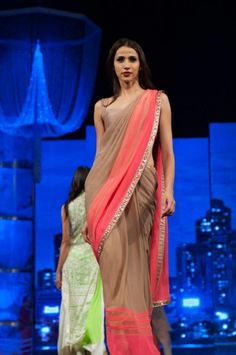 manish malhotra nude coral #saree