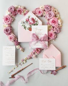 Vintage pink wedding invitations #weddings #weddinginvitations #invitations #weddingideas