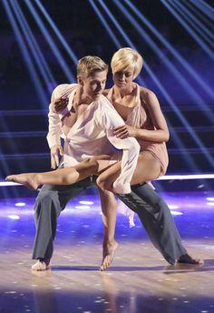 Derek Hough & Kellie  Pickler  -  dancing to victory in that holy-moly!!! rhumba  -  Dancing with the Stars  -  Season 16 finale  -  week 10  -  spring 2013