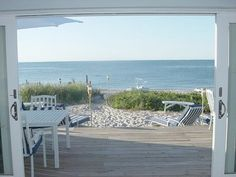 Stay on the deck or walk on the beach? Decisions....decisions! :)