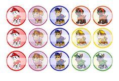 "Paw Patrol - 1"" Bottle Cap Designs / DIY Hair Accessories / DIY Earrings / DIY Necklace / DIY Key Chain / Birthday Party / Party Favors / DIY Magnets / Bottle Cap Crafts / Bottle Cap Art / Bottle Cap Ideas / Bottle Cap Party Favors / Children Party Ideas / Children Party Themes / Kid Party Ideas / DIY Party Ideas"