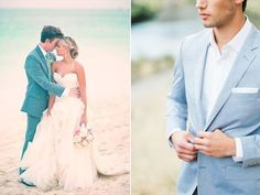 Every couple that is going to tie the knot in the summer is preparing hard, and I'd like to help you, guys, with this bunch of adorable summer groom looks. Wedding Groom, Wedding Attire, Wedding Dresses, Groom Looks, Groom Attire, Tie The Knots, Groomsmen, One Shoulder Wedding Dress, Inspire