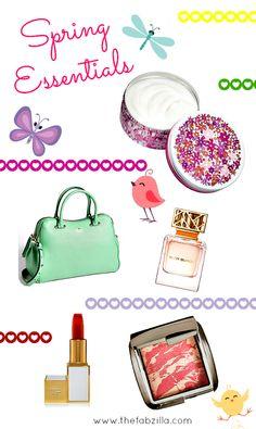My Top Five Spring Essentials #springessentials #spring at www.thefabzilla.com via @Kat Hill TheFabzilla