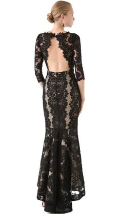alice + olivia Jae Open Back Gown... But I want it in a different color.