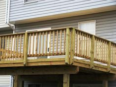 ACQ pressure treated pine wood #deck.