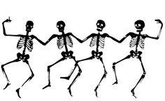 Dibujos de esqueletos para colorear