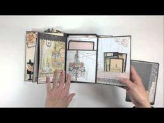 Prima Lyrical Mini Album - YouTube; using Kathy Orta's Build-a-Page tutorial