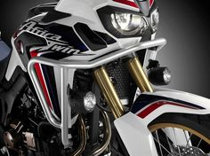 2016 Honda Africa Twin CRF1000L Accessories | Check out the Protection & Storage Accessory options from Honda with crash bars, saddlebags and trunk plus more!