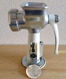 Vintage 1960s Rival Grind O MAT Meat Grinder Food Chopper 358 | eBay