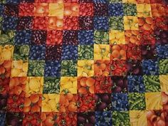 fruit & veggie quilt, LOL!