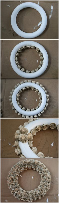 How To Make A Wreath With Paper Book Pages