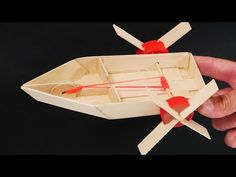 Make an Elastic Band Paddle boat Boat Crafts, Craft Stick Crafts, Fun Crafts, Paper Crafts, Summer Crafts For Kids, Projects For Kids, Diy For Kids, Craft Projects, Popsicle Stick Boat