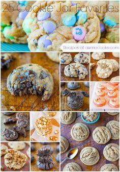 25 Cookie Jar Favorite Cookies - Recipes at averiecooks.com                             R6/11