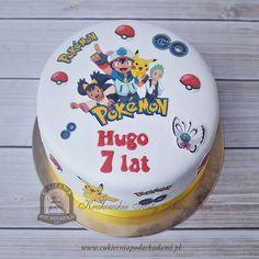63BD. Tort z Pokemonami. Pokémon cake with Ash Ketchum, Pikachu, Iris oraz Cilan.