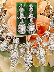 #900-65 - Bridal Necklace & Earring Set