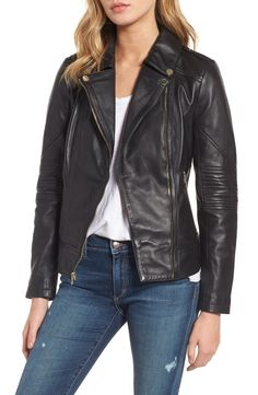 91763ba7 Guess Leather Moto Jacket Blazers For Women, Coats For Women, Clothes For  Sale,