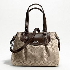 ASHLEY SIGNATURE SHOULDER BAG.  I just love my Coach purse.  My fav go to purse...unless it's raining...then I switch to an elcheapo.  lol
