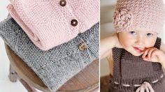 Her får du fire fine opskrifter på lunt strik til baby og barn. Chrochet, Knit Crochet, Crochet Pattern, Crochet Hats, Knitting Patterns Free, Free Knitting, Baby Knitting, Knitting For Kids, Crochet For Kids