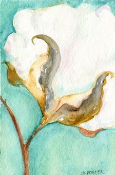 cotton field watercolor paintings - Google Search