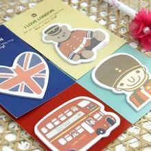 Azul Bai papelaria - hot venda papelaria Fly over London modelagem papel removível / marcador 160(China (Mainland))