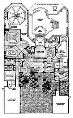 Ashburton luxury home blueprints mansion floor plans house floor plan screened in lanai theater aaaand it has an elevator and a malvernweather Gallery