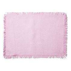 Frayed Edge Place Mats Pink Set of 4 Placemats ($25) ❤ liked on Polyvore featuring home, kitchen & dining and table linens