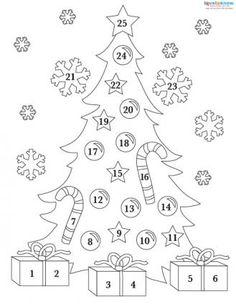 Coloriage / dessin Mandala calendrier de l'Avent à