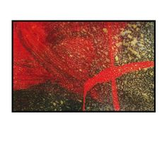 Original red abstract art space painting cosmic by 7RayedDesigns