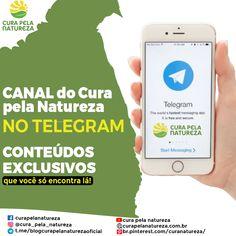 Vamos para o canal do Cura pela Natureza no Telegram! Messages, App, Natural Health, Herbs, Nature, Lets Go, Apps, Text Posts