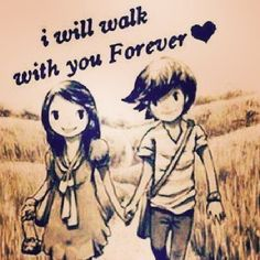 d8mart.com relationship_____quotes - I will walk with you forever. Let me put my make up on.