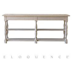 Eloquence® Draperie Console Table in Danish White