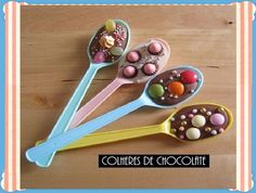 Easy Party Ideas , August 2009 by Marie 54 Comments, Best Baby Shower Food Ideas , Simple Baby Shower Food Ideas, summer baby shower food. Organiser Une Baby Shower, Chocolate Spoons, Hot Chocolate, Melted Chocolate, Chocolate Covered, Delicious Chocolate, Chocolate Chips, Brazilian Chocolate, Chocolate Lollies