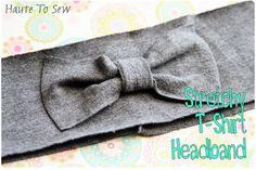 Awesomeness! tshirt headband, sew, stretchi tshirt, diy summer, haut, tshirt 20, headbands, knit headband, hair